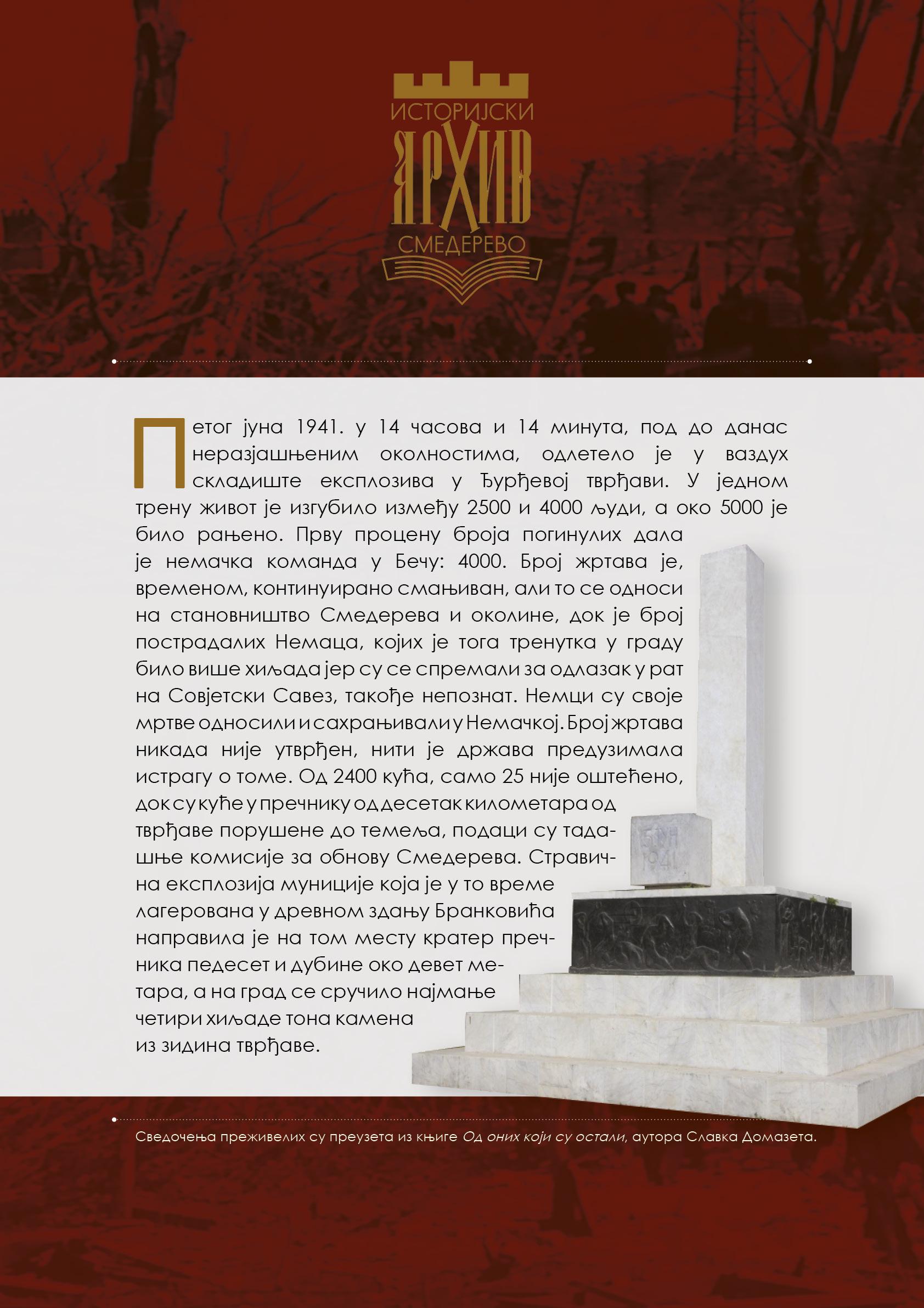 Обележавање годишњице Петојунске трагедије у Смедереву 1941.